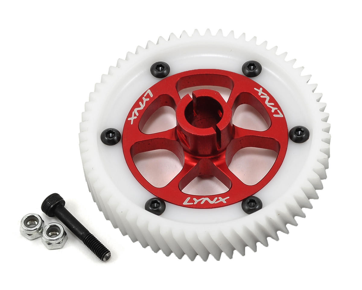 Lynx Heli Goblin 500 Ultra Main Gear Set (Red)