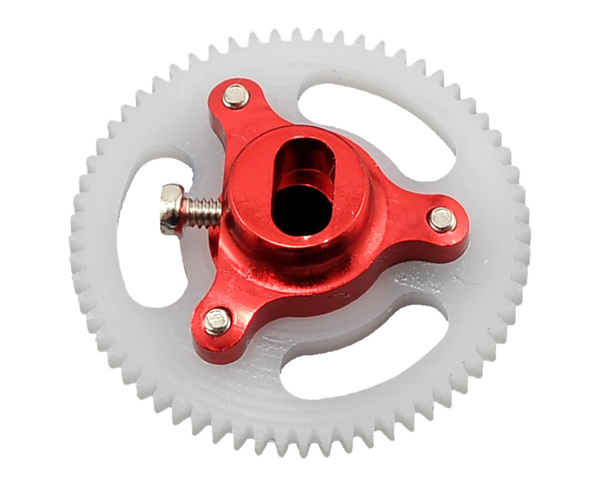 Lynx Heli Blade mCP X BL Ultra Main Gear Hub Set (64T) (Red)