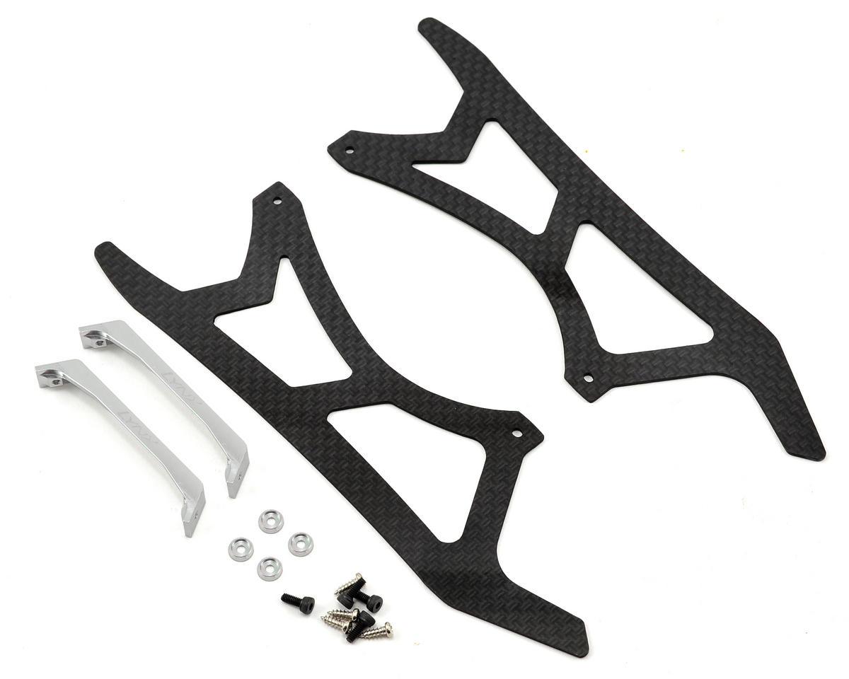 Lynx Heli Blade 300 X Ultra Landing Gear Set (Silver) (Profile 2)