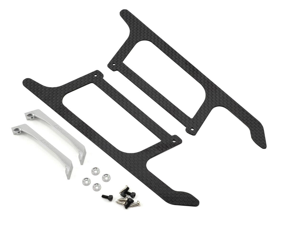 Lynx Heli Blade 300 X Ultra Landing Gear Set (Silver) (Profile 4)