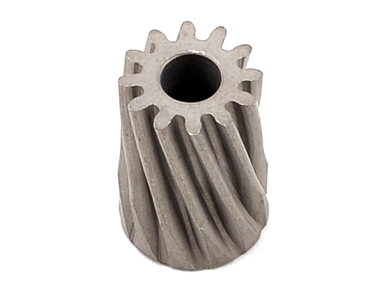 T-REX 450 Steel Mod 0.6 Helical Pinion Gear (12T) (3.50mm Bore) by Lynx Heli