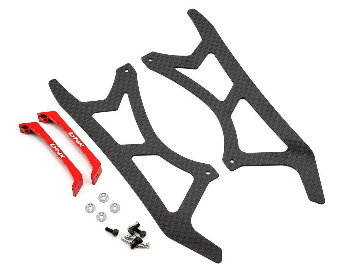 Lynx Heli Blade 300 X Ultra Landing Gear Set (Red) (Profile 2)