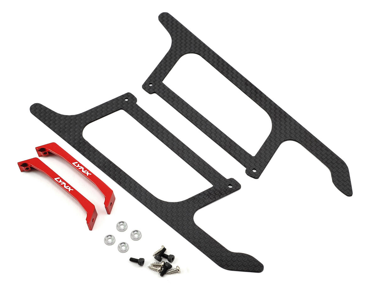 Lynx Heli Blade 300 X Ultra Landing Gear Set (Red) (Profile 4)
