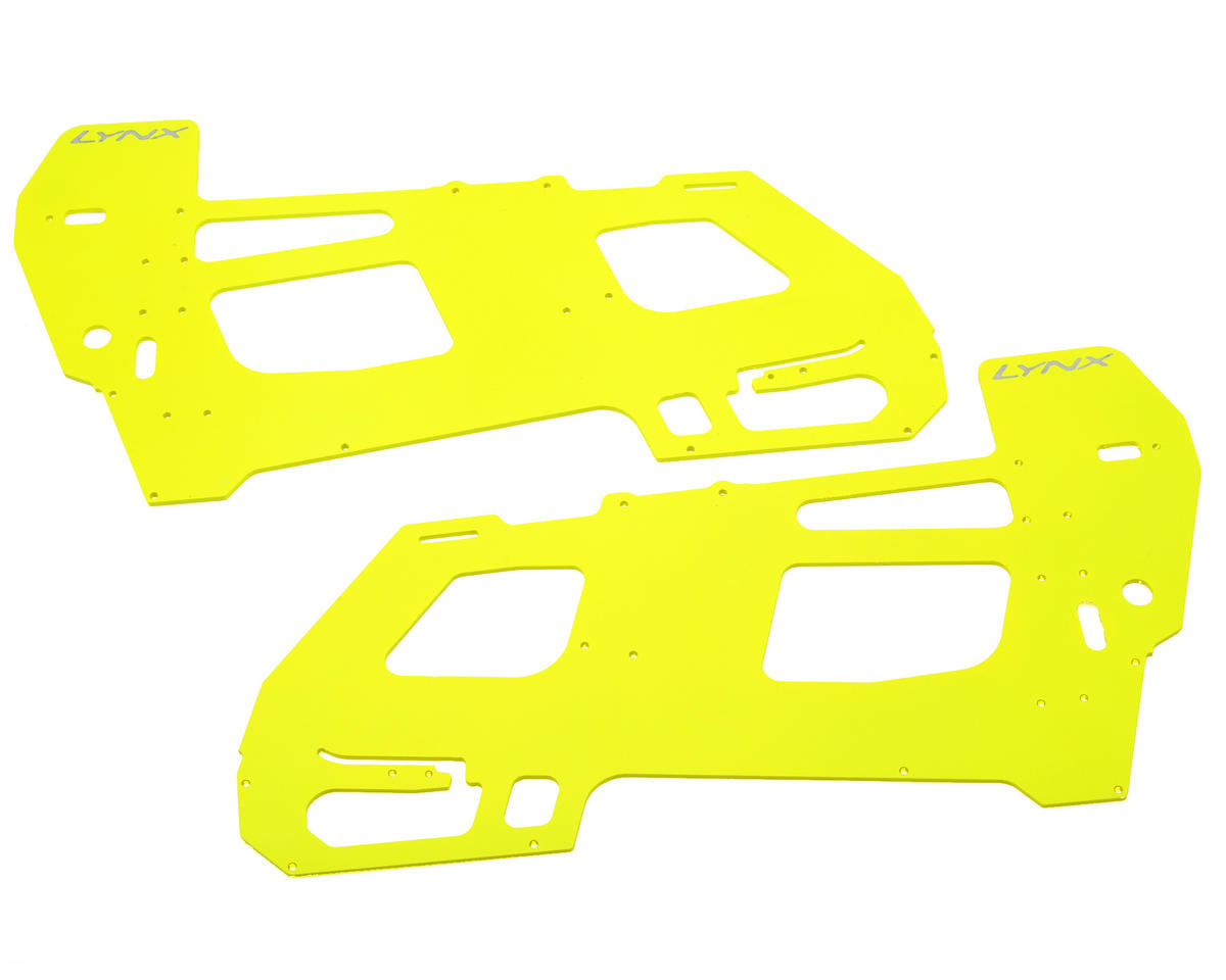 Lynx Heli 2mm Goblin 500 G10 Ultra Main Frame Set (Yellow)