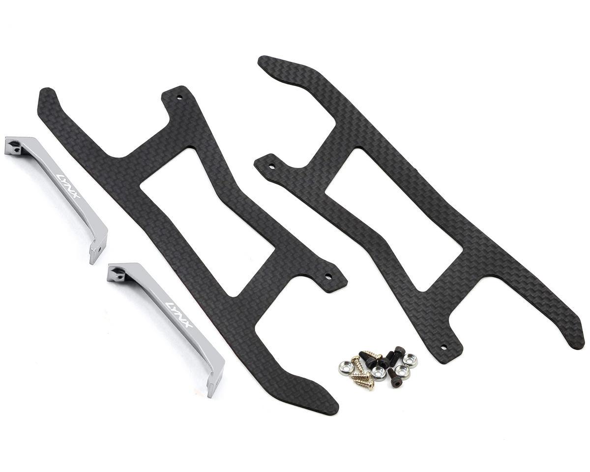 Lynx Heli Blade 450 X Ultra Landing Gear (Silver) (Profile 3)