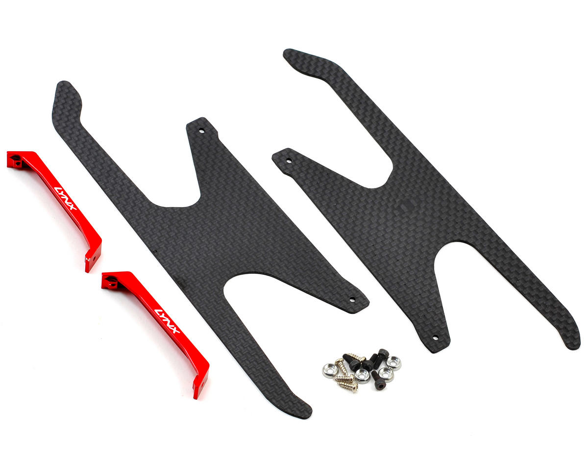 Lynx Heli Blade 450 X Ultra Landing Gear (Red) (Profile 5)