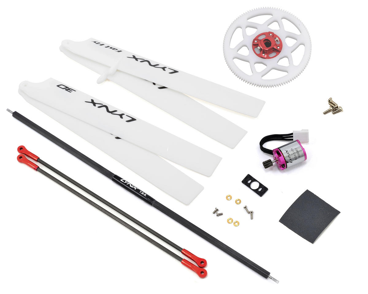 "Lynx Heli Blade 130 X ""Stretch"" Upgrade Super Combo Kit (Red)"