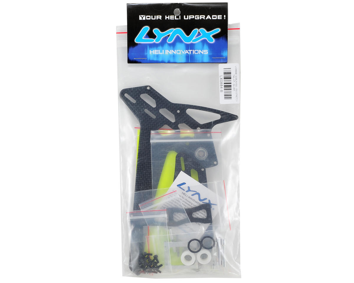 Lynx Heli Goblin 500/550 Stretch Tail Kit (Silver)