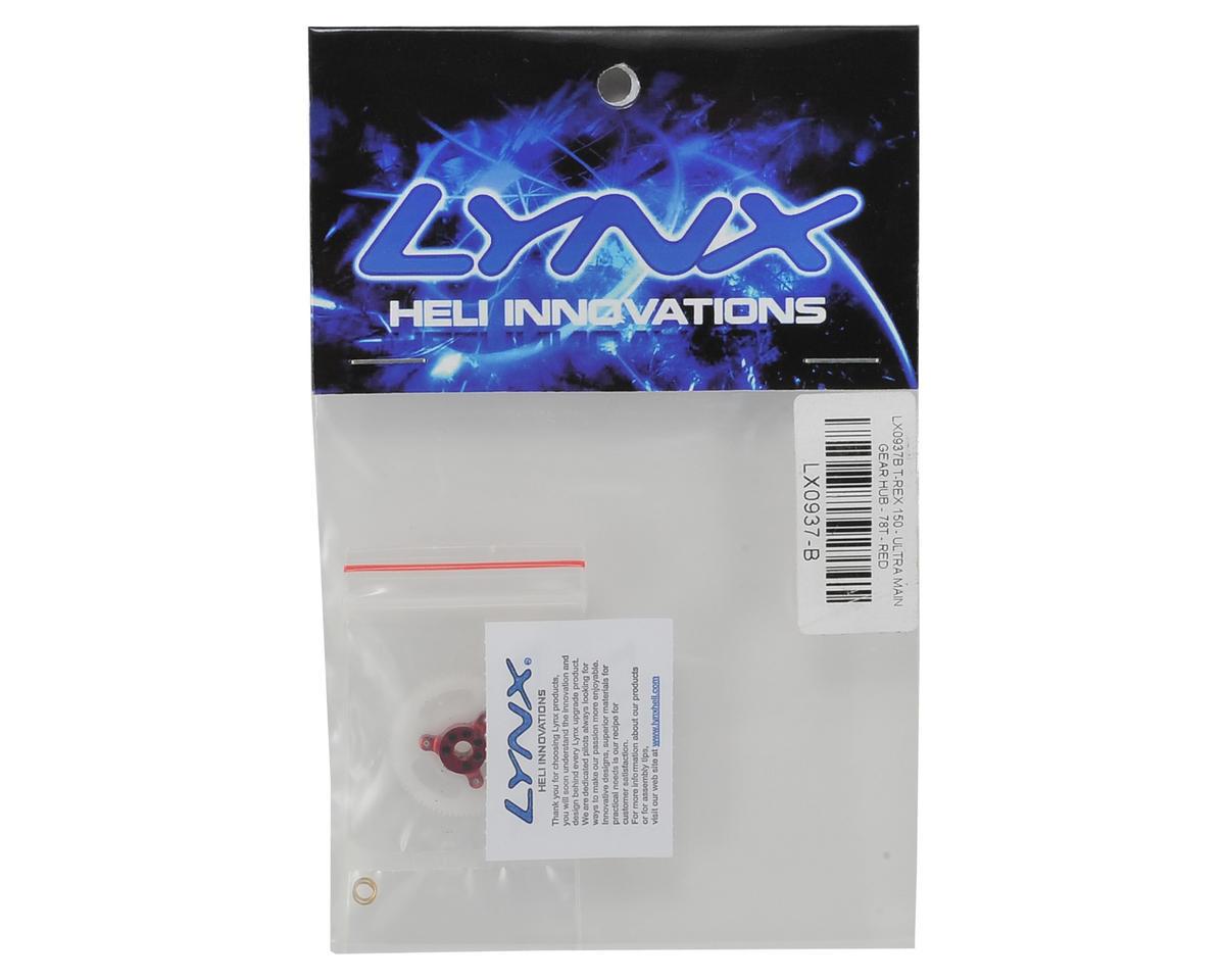 Lynx Heli T-REX 150DFC Ultra Main Gear Hub (78T) (Red Devil Edition)