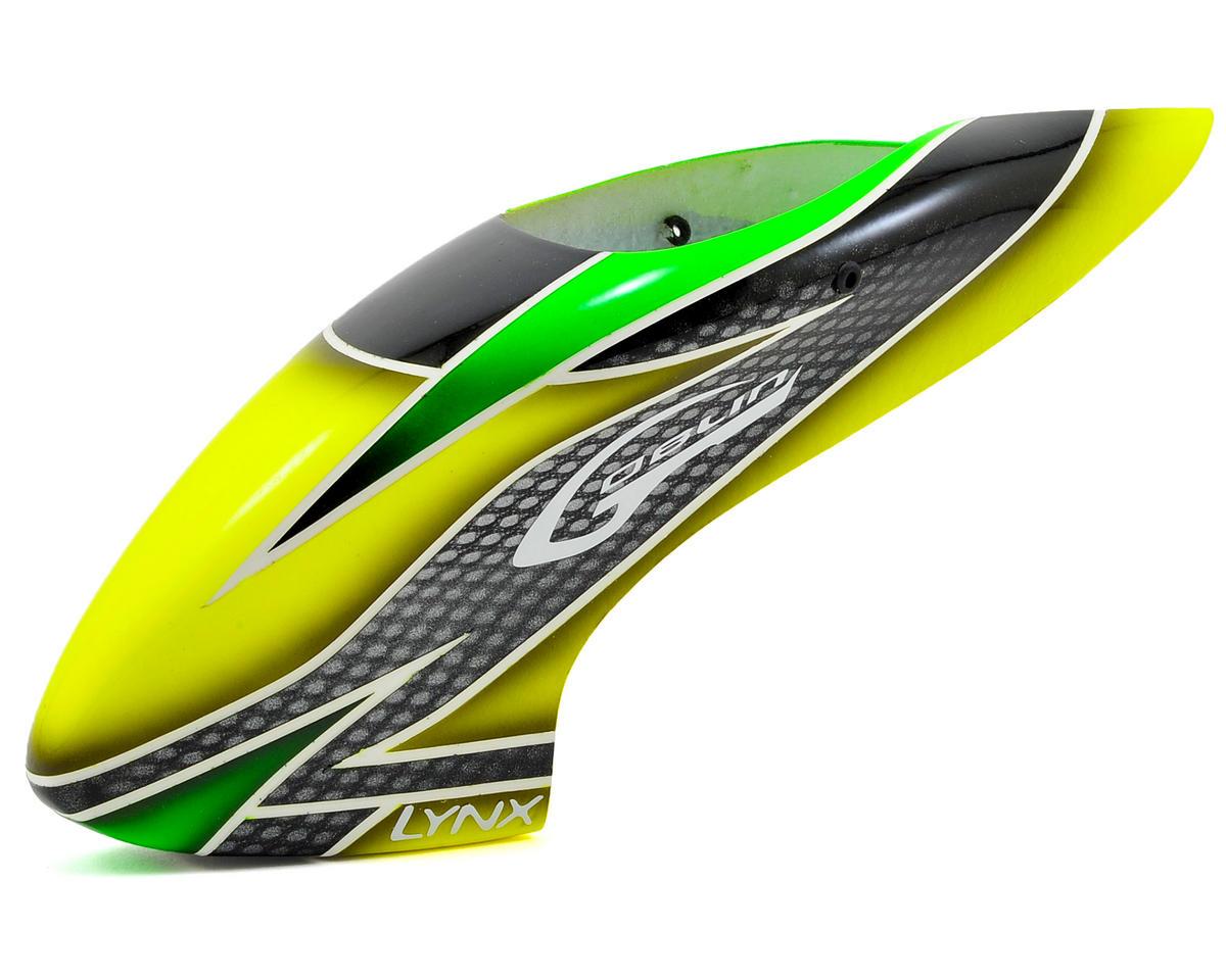 Lynx Heli Blade 130 X Goblin Style Fiberglass Canopy (Scheme 03 - Black/Green)