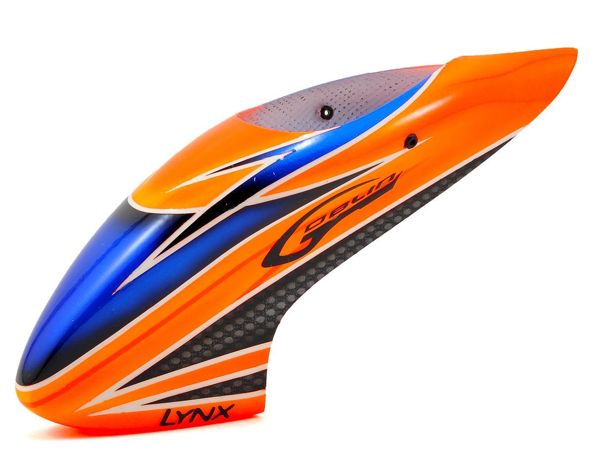 Lynx Heli Blade 130 X Goblin Style Fiberglass Canopy (Scheme 04 - Orange/Blue)