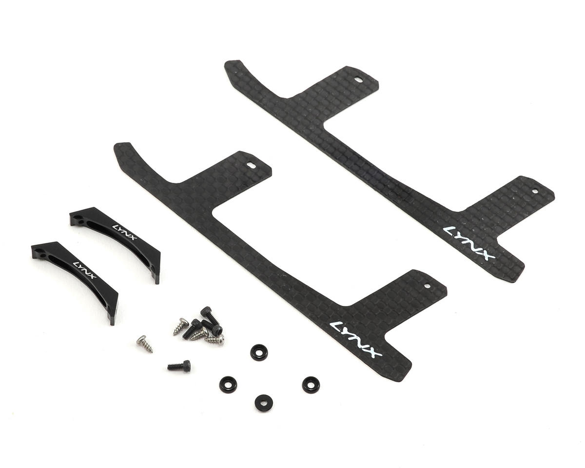 Lynx Heli 180CFX Ultra Landing Gear Set (Black) (Profile 1)