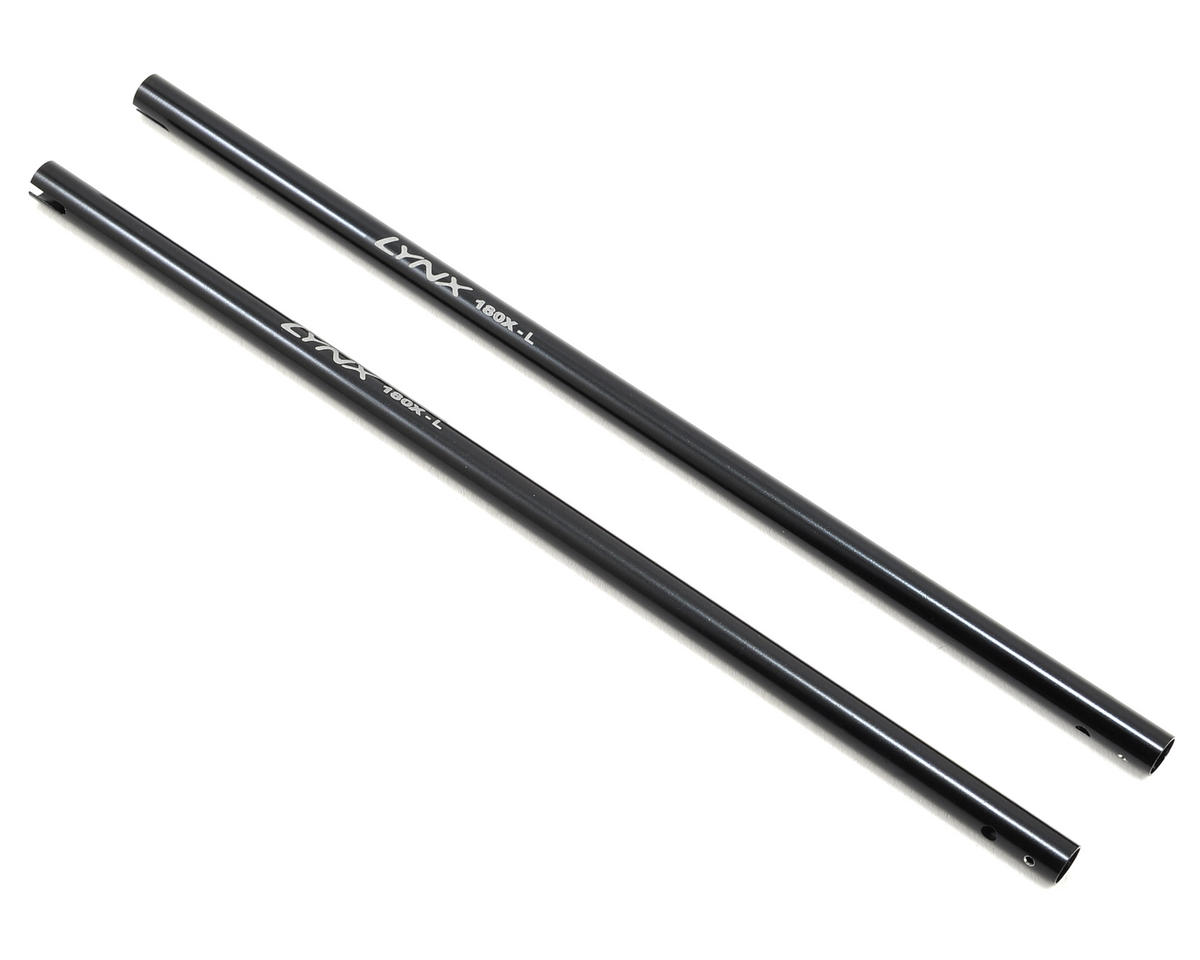 180CFX +25mm Stretch Tail Boom Spares (Black) (2) by Lynx Heli