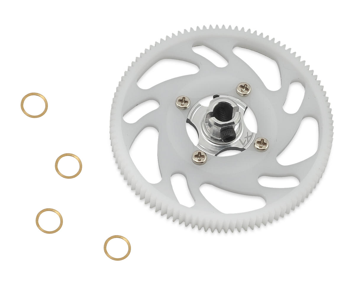 180CFX CNC Main Gear Set (Silver) by Lynx Heli