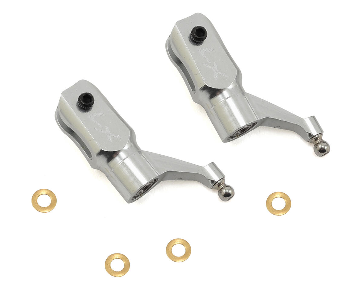 Lynx Heli 180CFX Ultra Main Grip Set (Silver)
