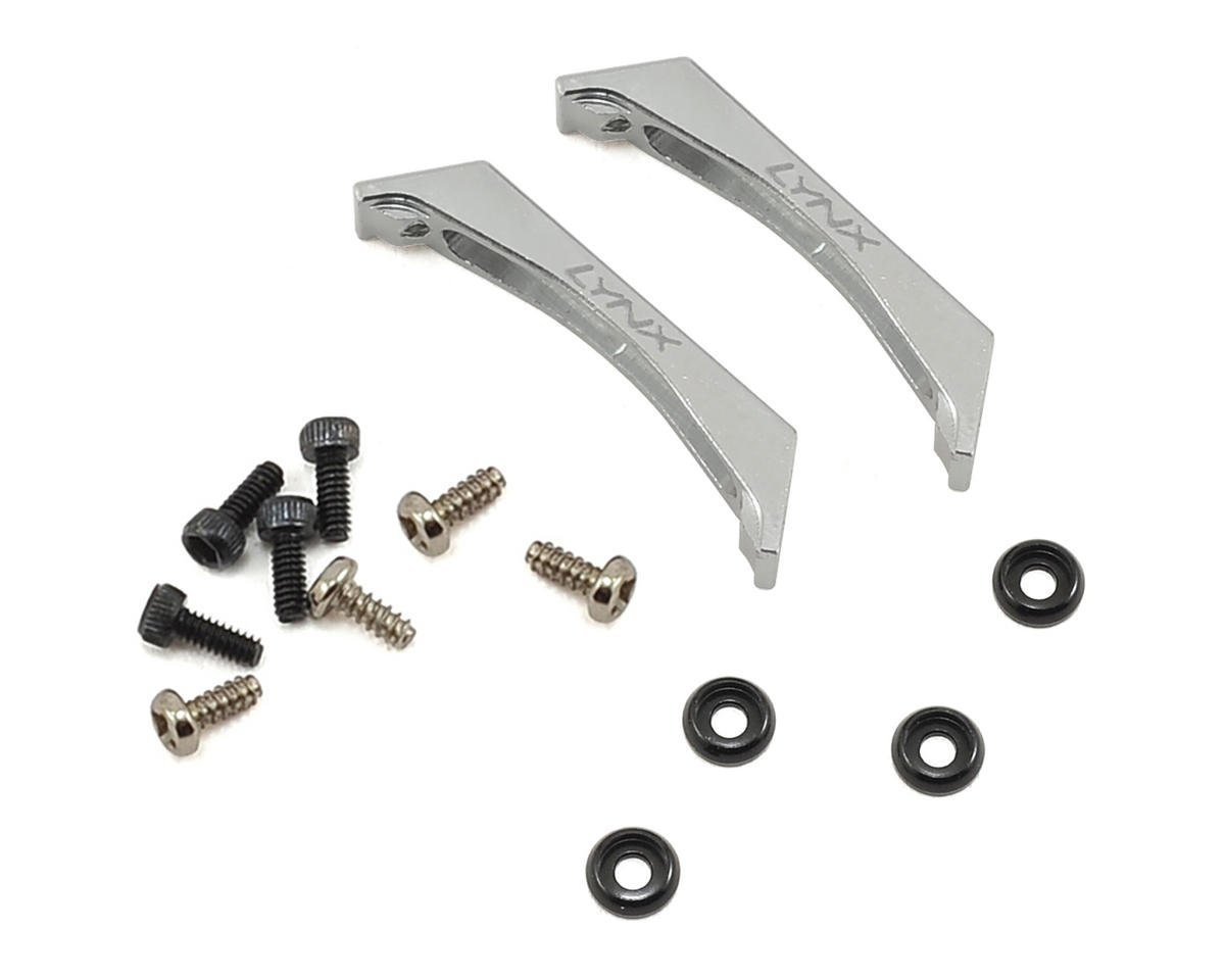 Lynx Heli 180CFX Ultra Landing Gear Support Block Set (Silver)