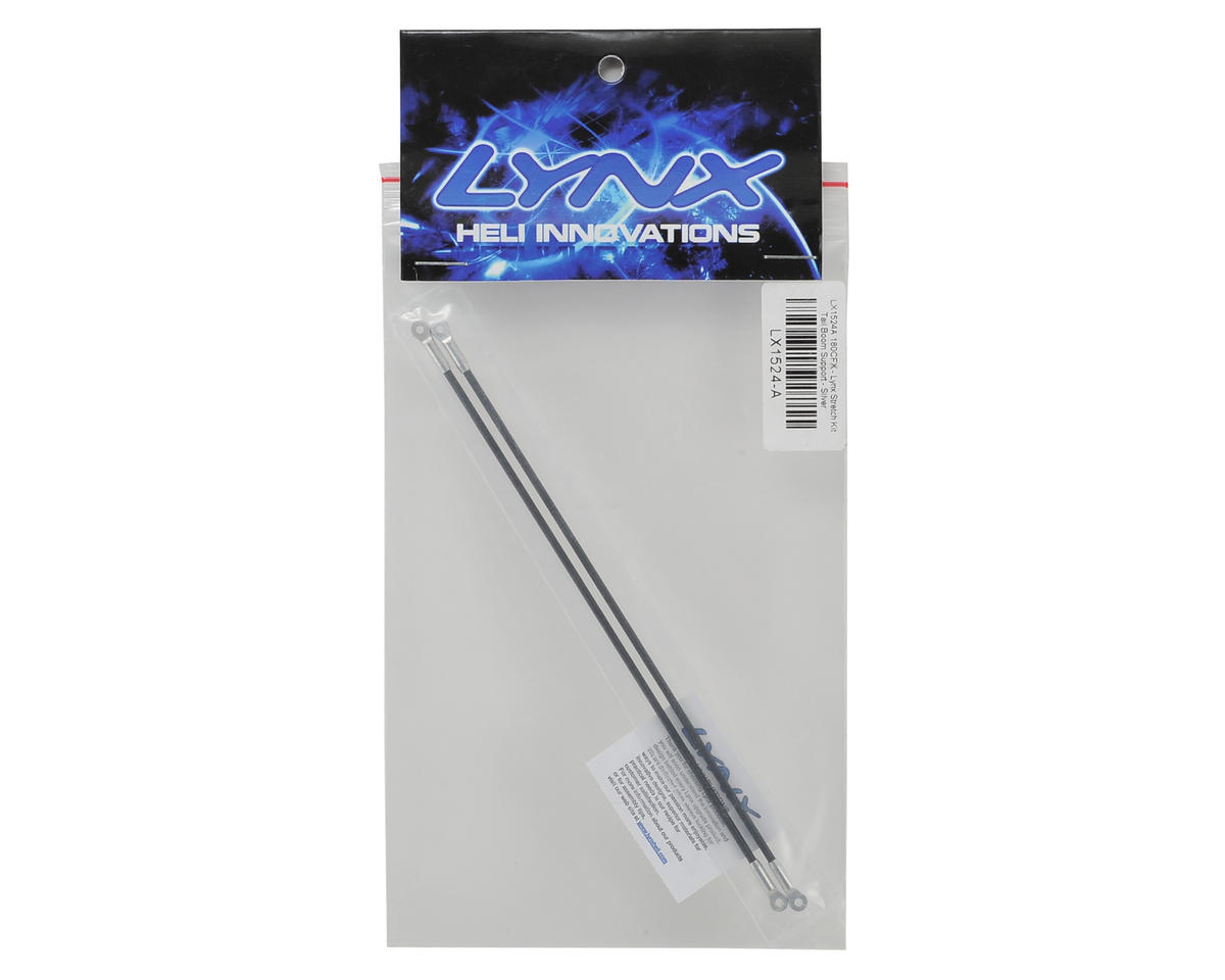 Lynx Heli 180CFX Tail Boom Support Rod (Silver) (2) (Stretch Length)