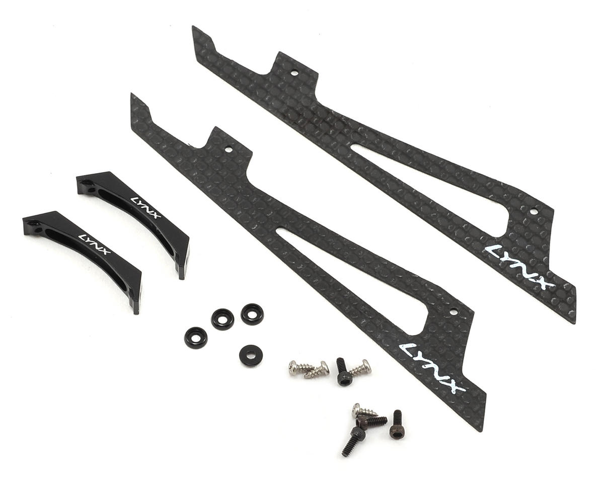 Lynx Heli 180CFX Ultra Landing Gear (Black) (Profile 2)