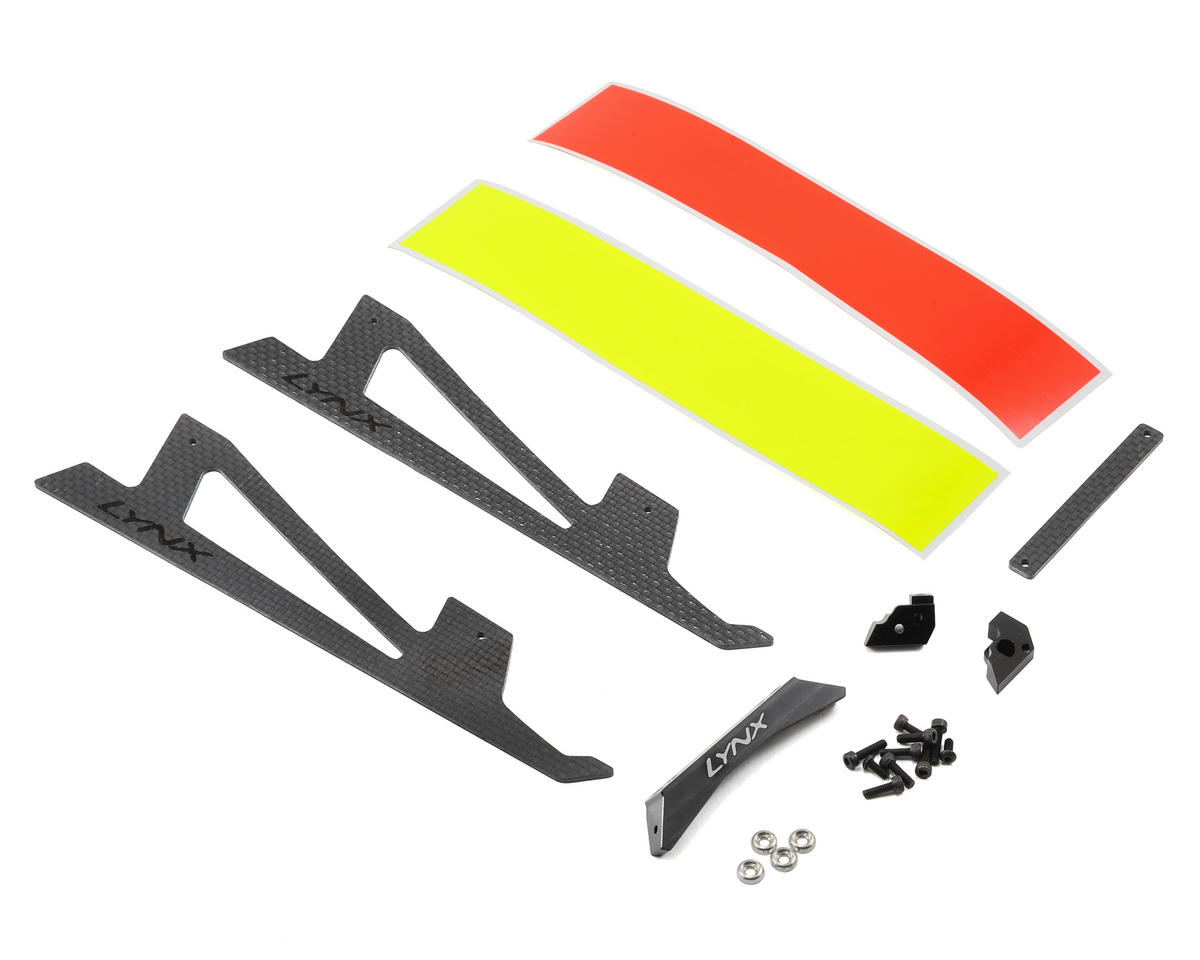 Ultra Landing Gear Set (Black) by Lynx Heli