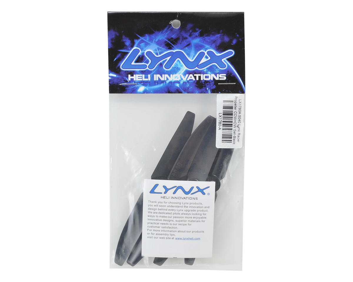 Lynx Heli 5x4 Racer Propeller Set (Black)