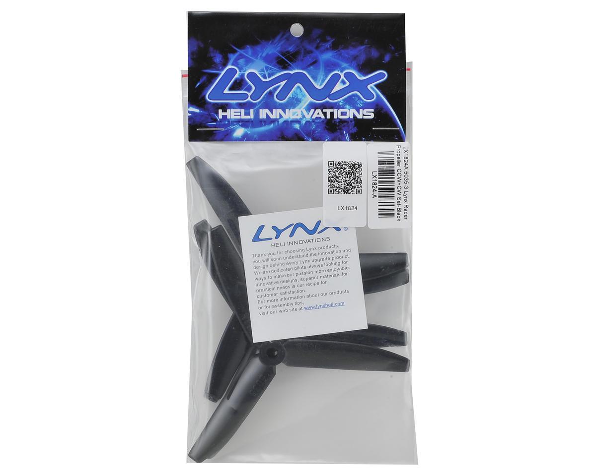 Lynx Heli Tri-Blade 5x3.5x3 Racer Propeller Set (Black) (4)