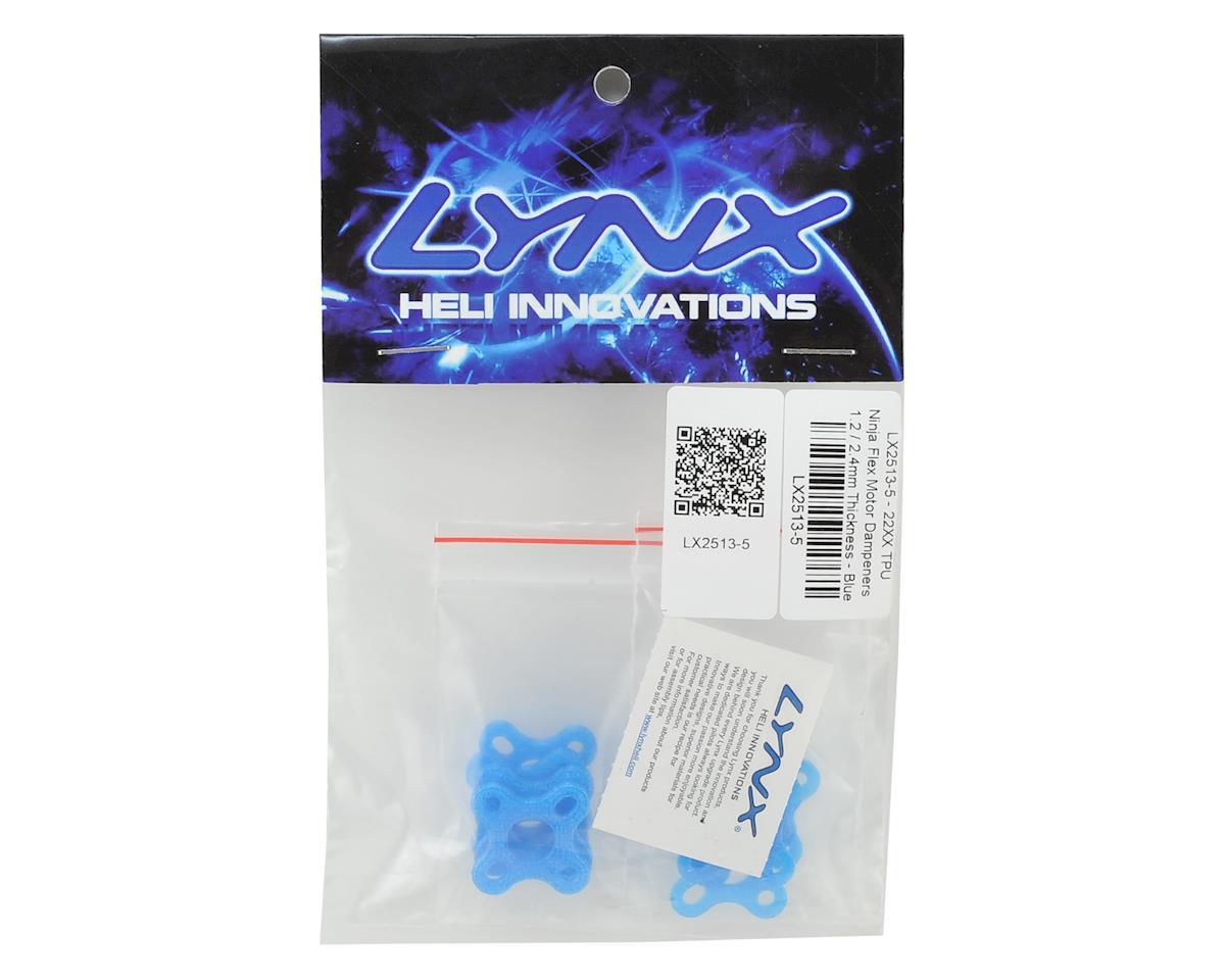 Lynx Heli 22XX TPU Ninja Flex Motor Dampeners (1.2/2.4mm Thickness) (Blue)