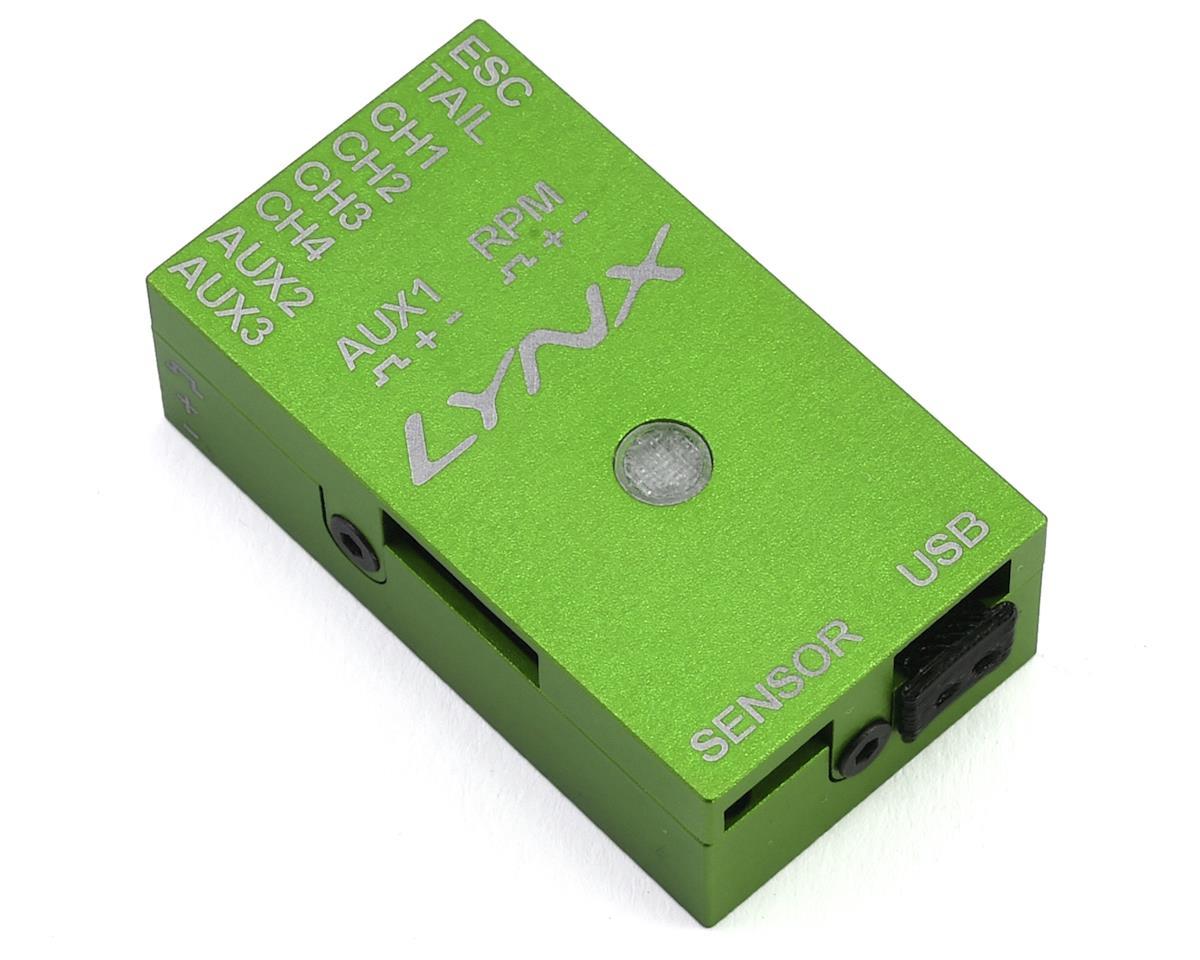 Lynx Heli Aluminum Vbar NEO Case (REV-B) (GREEN)