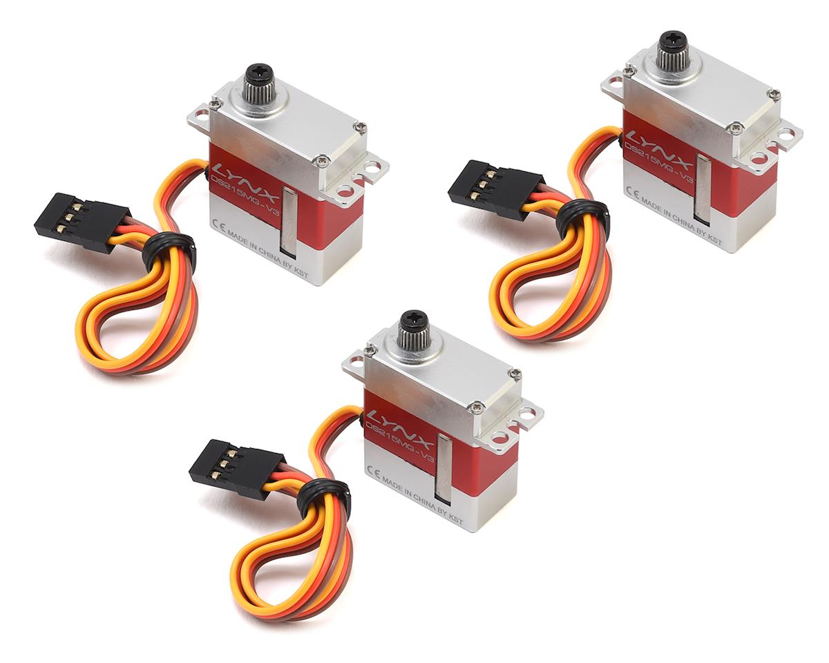 KST DS215MG V3 Micro Digital Metal Gear Servos (3) by Lynx Heli