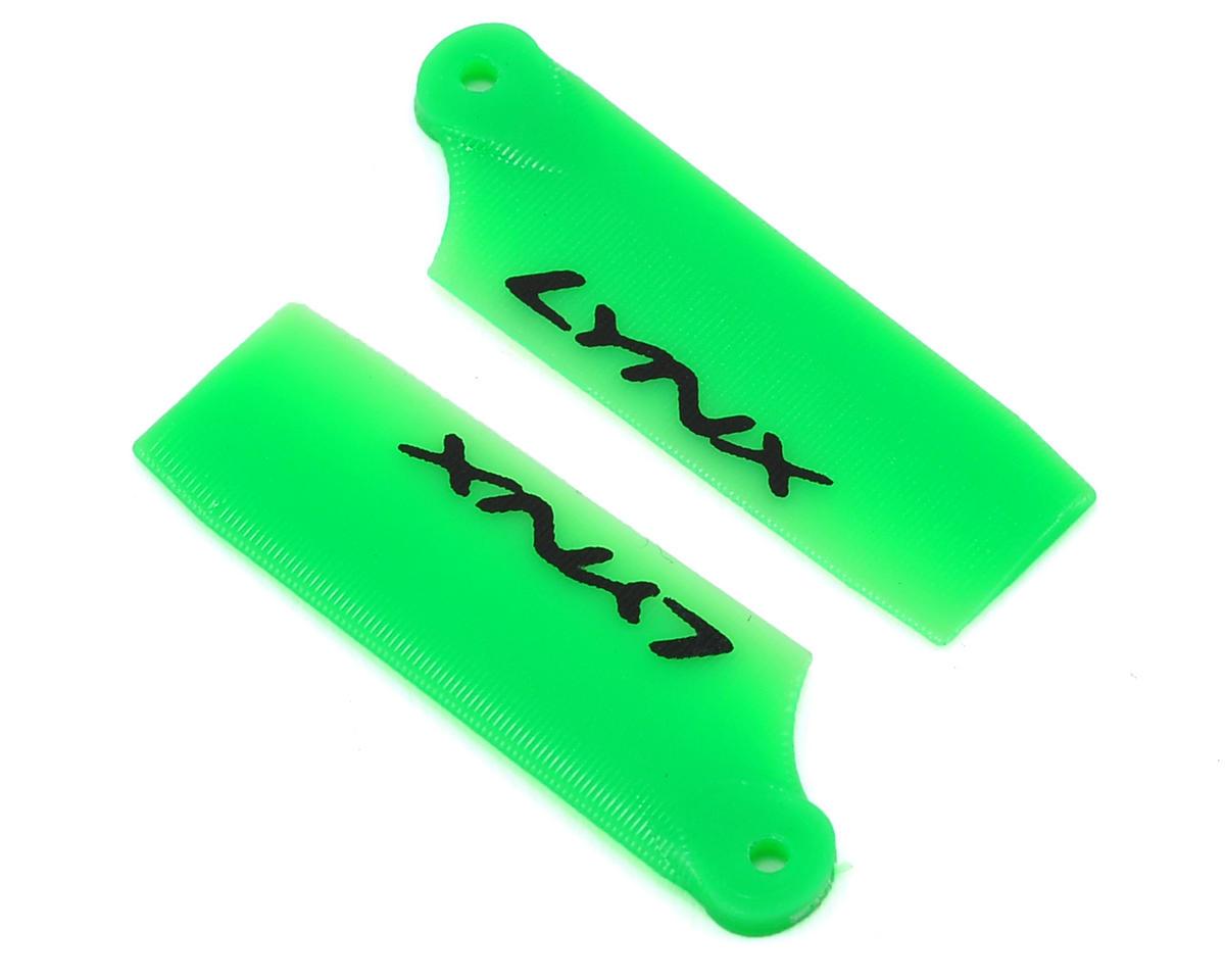 Lynx Heli 29mm Plastic Tail Blade Set (Neon Green) (Blade 130 X)