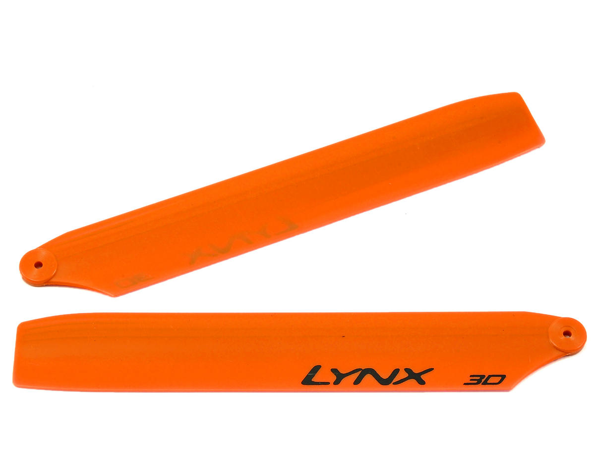Lynx Heli 125mm Stretch Replica Plastic Main Blade (Orange) (mCP X BL)