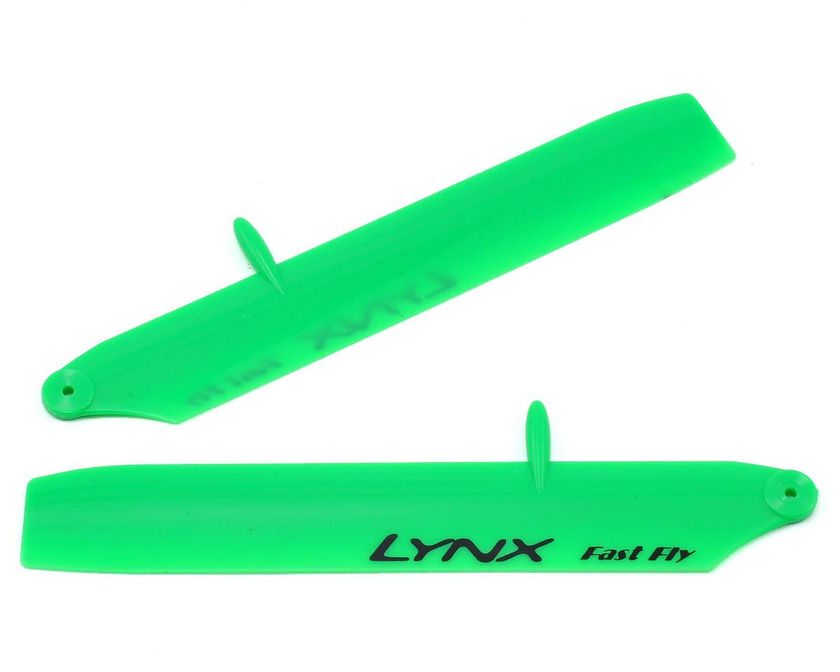 Lynx Heli 125mm Bullet Stretch Replica Plastic Main Blade (Green) (mCP X BL)