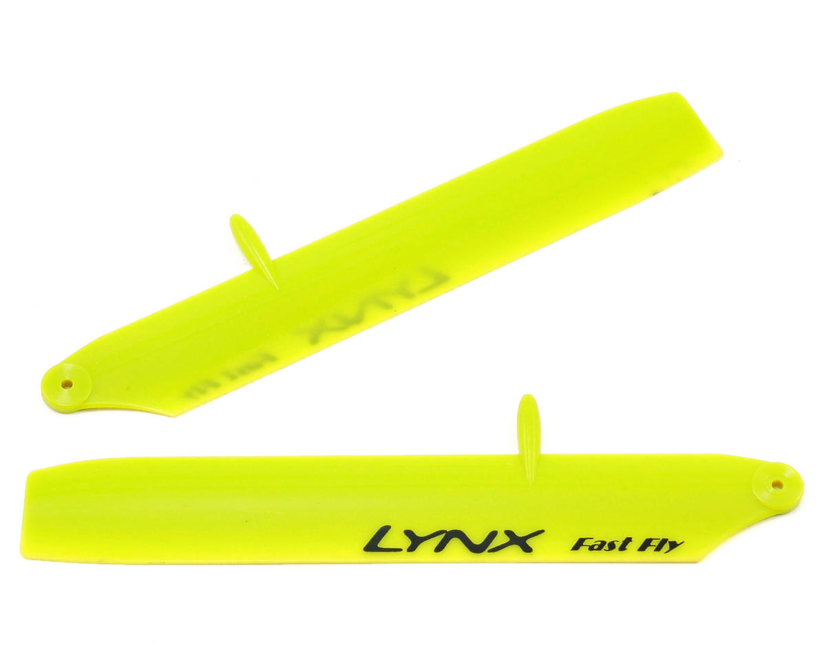 Lynx Heli 125mm Bullet Stretch Replica Plastic Main Blade (Yellow) (mCPX BL)