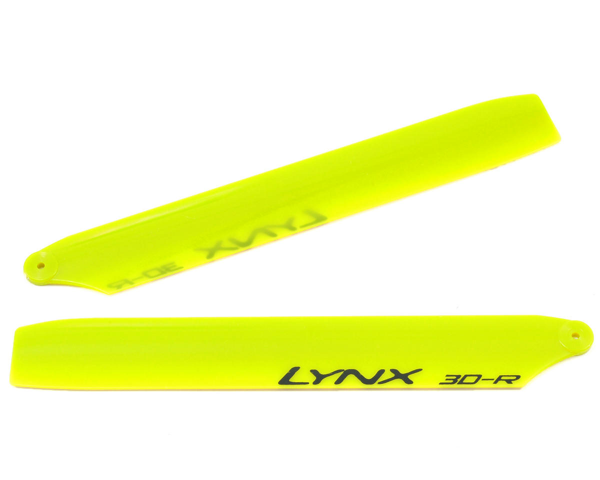 "Lynx Heli 135mm ""Replica Edition"" Plastic Main Blade Set (Yellow) (Blade 130 X)"