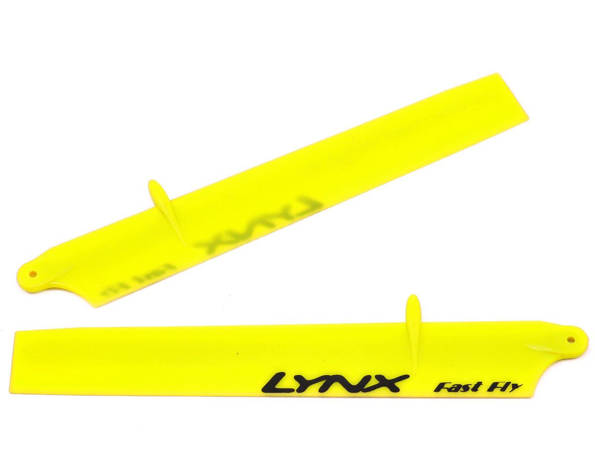 "Lynx Heli 135mm ""Bullet"" Plastic Main Blade Set (Neon Yellow) (Blade 130 X)"