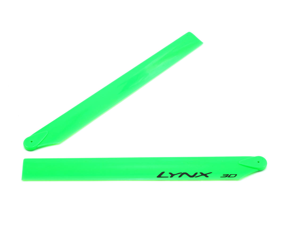 Lynx Heli 240mm Blade 230S Plastic Main Blade Set (Green)