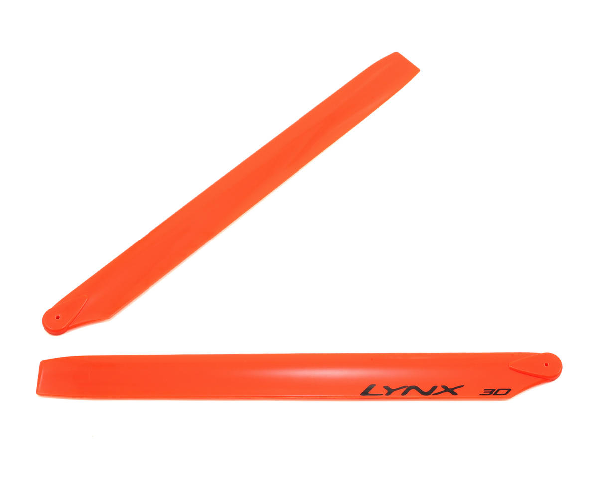 Lynx Heli 275mm Plastic Main Blade 300 X (Neon Orange) (Blade 300CFX/OXY3)