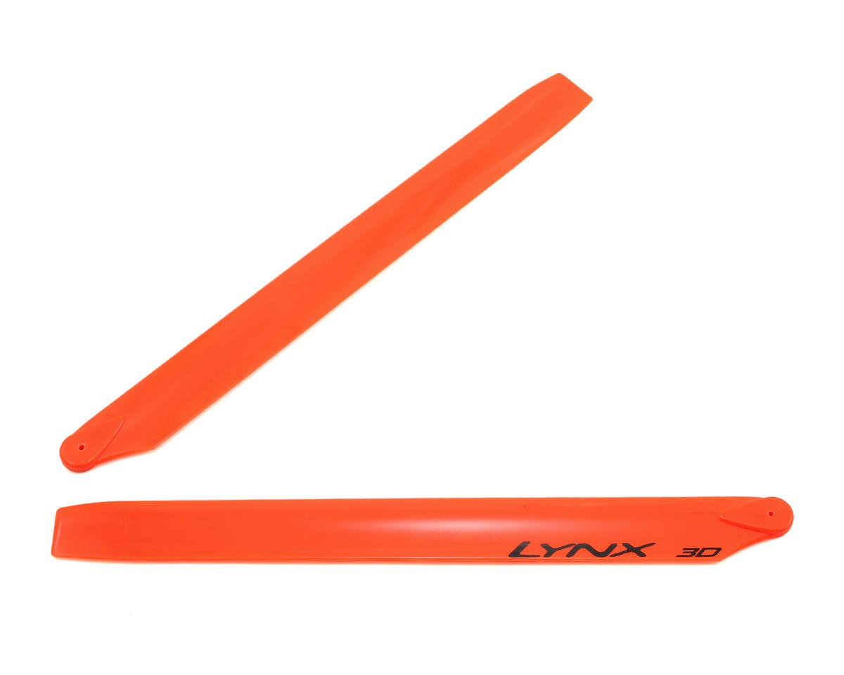 275mm Plastic Main Blade (Neon Orange) (Blade 300CFX/OXY3) by Lynx Heli (Oxy OXY 3)