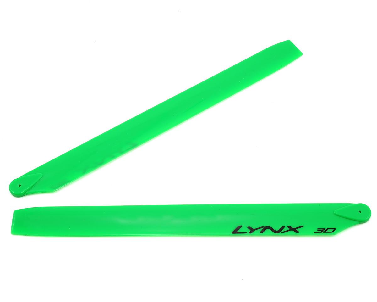 Lynx Heli 275mm Plastic Main Blade 300 CFX (Neon Green) (Blade 300CFX/OXY3)