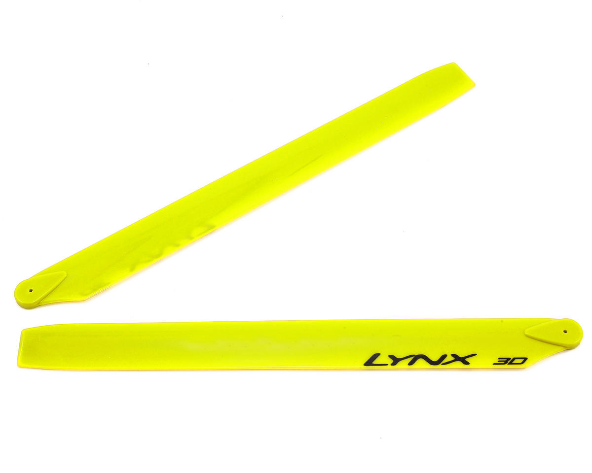 275mm Plastic Main Blade (Neon Yellow) (Blade 300CFX/OXY3) by Lynx Heli