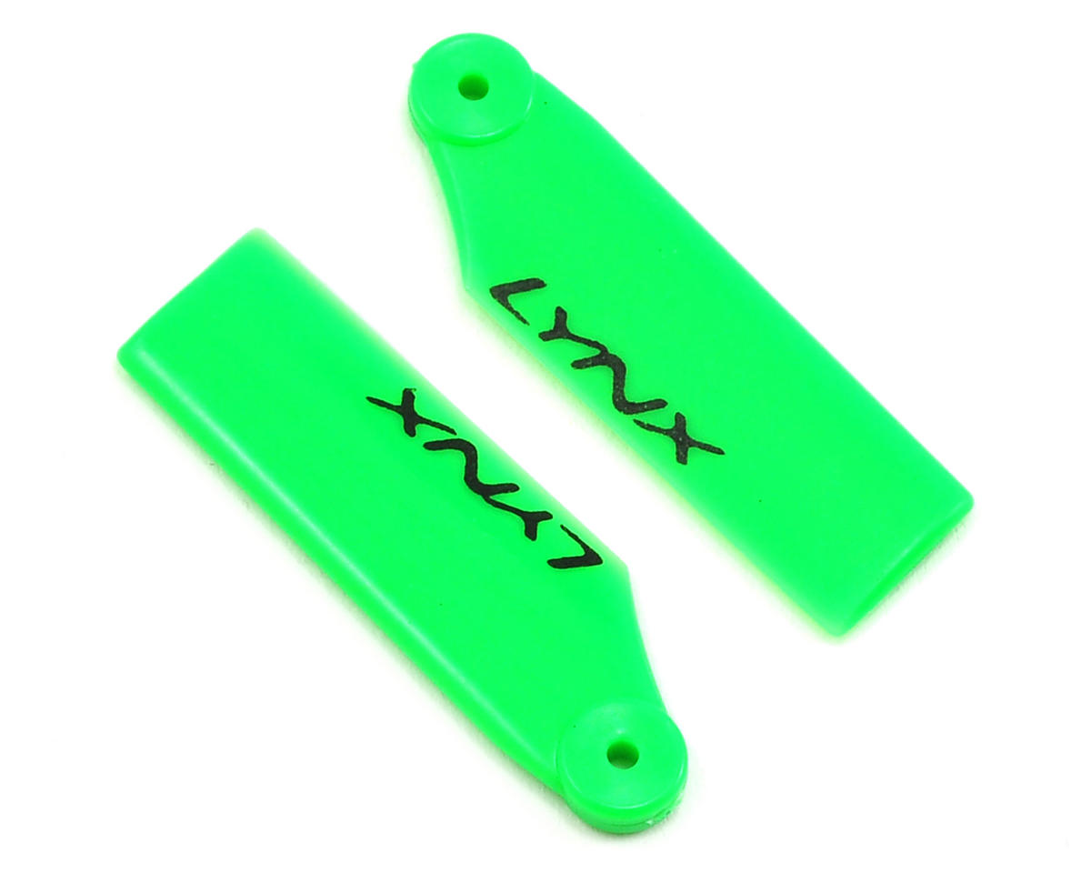 180CFX 34mm Plastic Tail Blade (Green) by Lynx Heli