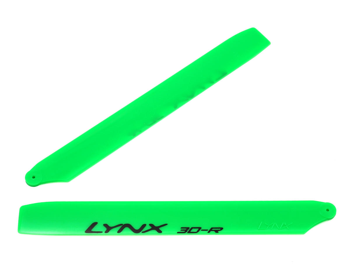 "180CFX 160mm ""Pro Edition"" Plastic Main Blade Set (Green) by Lynx Heli"