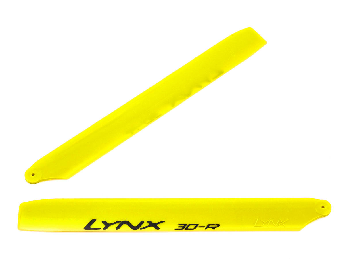 Lynx Heli 180CFX 160mm Pro Edition Plastic Main Blade Set (Yellow)