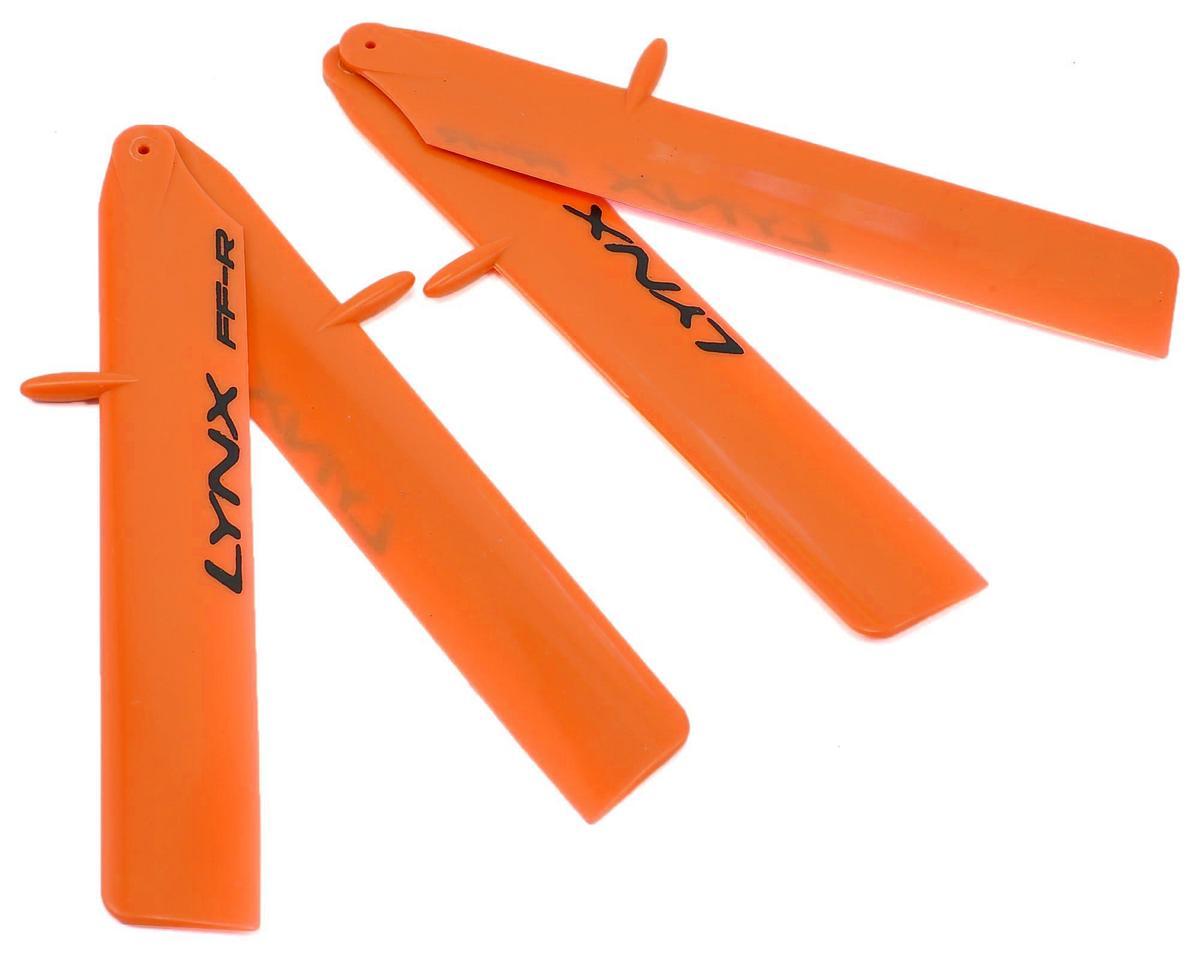 "Lynx Heli 120mm ""Bullet Pro Edition"" Plastic Main Blade Set (Orange) (T-Rex 150)"