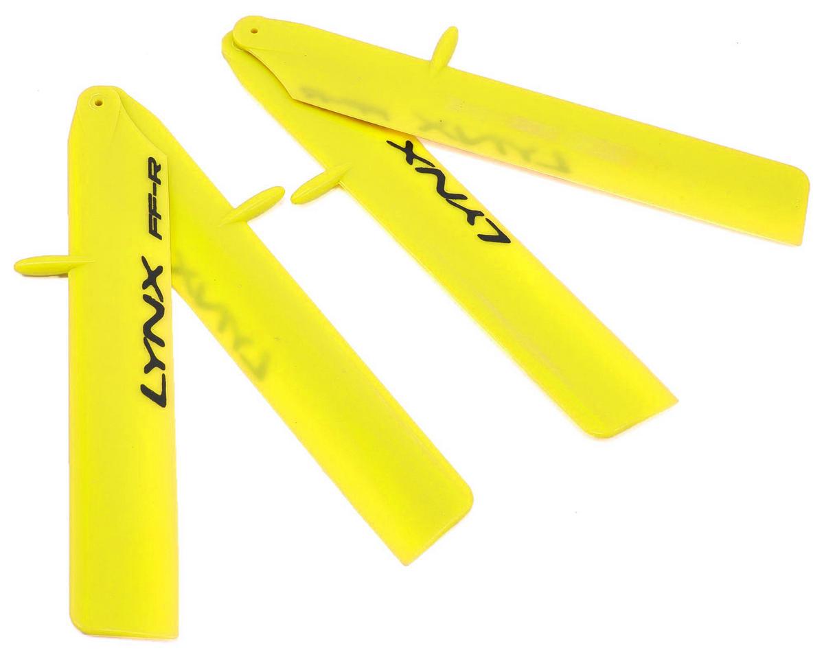 "Lynx Heli 120mm ""Bullet Pro Edition"" Plastic Main Blade Set (Yellow) (T-Rex 150)"