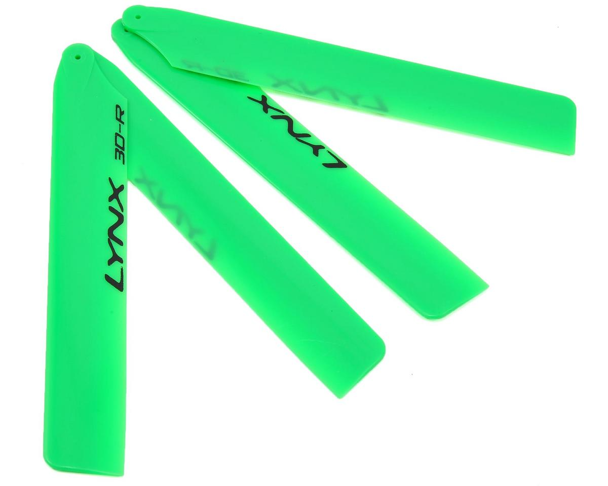 "Lynx Heli 125mm ""Pro Edition"" Plastic Main Blade Set (Green) (T-Rex 150)"