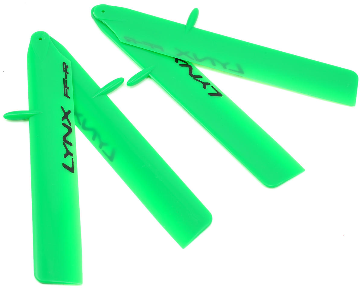 "Lynx Heli 125mm ""Bullet Pro Edition"" Plastic Main Blade Set (Green) (T-Rex 150)"