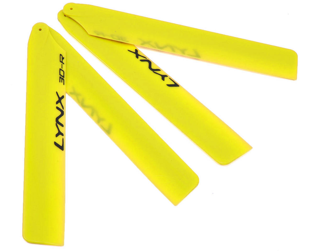 "Lynx Heli 125mm ""Pro Edition"" Plastic Main Blade Set (Yellow) (T-Rex 150)"