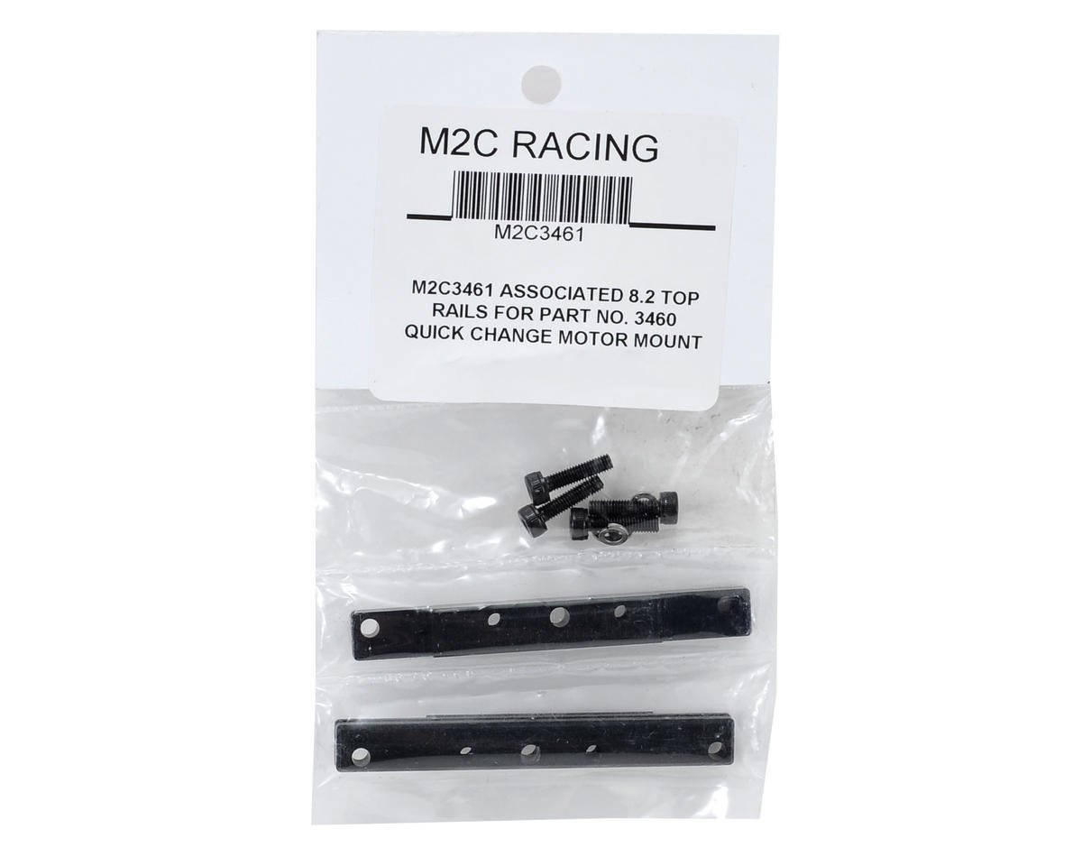 M2C Racing Team Associated RC8.2 3-Piece Quick Change Motor Mount Top Rail Set (2)