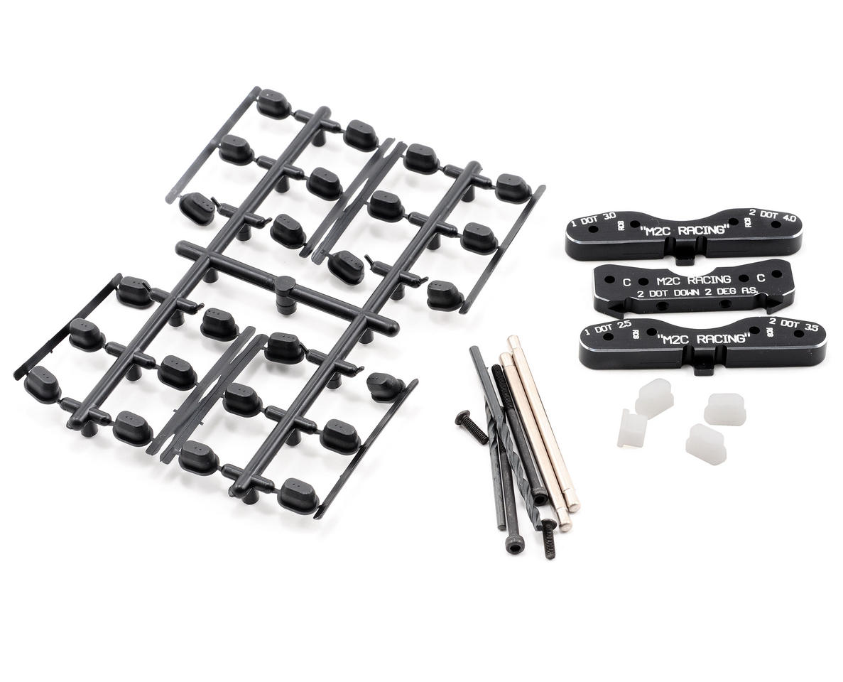 M2C Racing Associated RC8 Rear Toe Block Plate Kit