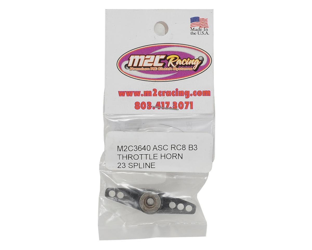 M2C Associated RC8B3 Aluminum Throttle Servo Horn (23T-JR/Airtronics/KO)